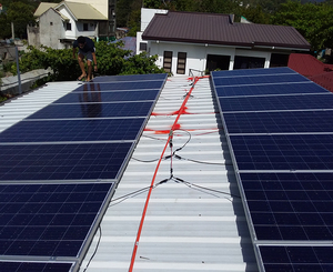 5.3kW off grid solar power system in Phillipines